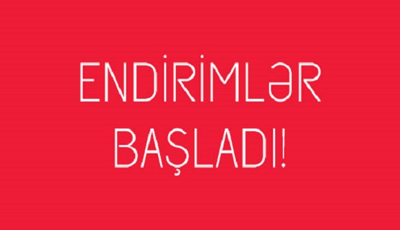 ENDİRİMDƏN YARARLANMAĞA TƏLƏSİN !!!