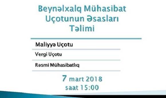 Beynəlxalq Mühasibat Uçotu Təliminə 23% ENDİRİM