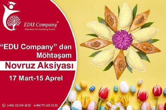 """""""EDU Company""""dən möhtəşəm NOVRUZ AKSİYASI - 1"""