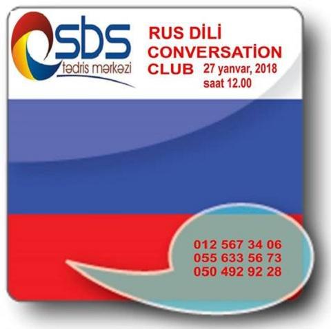 """SBS Tedris Merkezi sizi """"Rus Dili Conversation Club""""a dəvət edir!"""