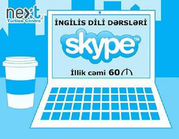 Skype ilə həftədə 2 dəfə individual dərs + email vasitəsi ile oxumaq və yazmaq