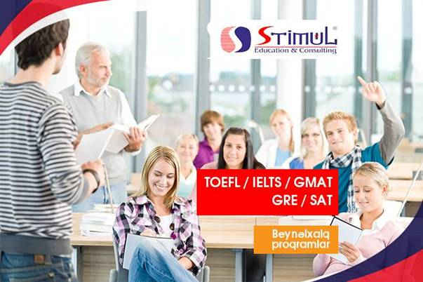 edirik TOEFL, İELTS, GMAT, GRE, SAT kurslarımızdan faydalanmağa dəvət edirik
