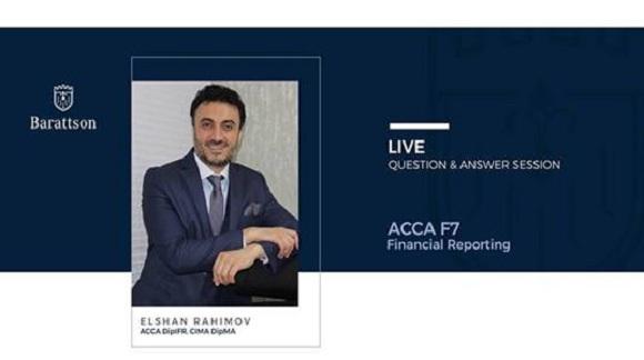 ACCA F7 (Financial Reporting) namizədlərinə şad xəbər !