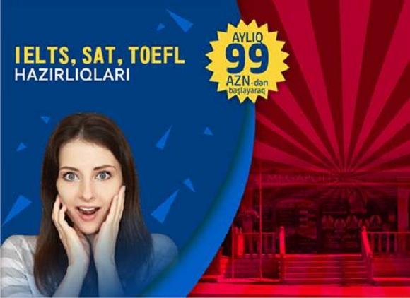 AMERİKA UNİVERSİTETİNİN mezunları terefinden tedris edilen İELTS, SAT, TOEFL hazırlığı !!!