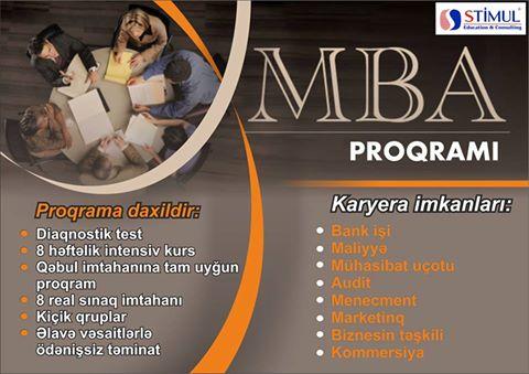 MBA hazırlıq üzrə qeydiyyat başlayır (STIMUL Education Consulting) - 1