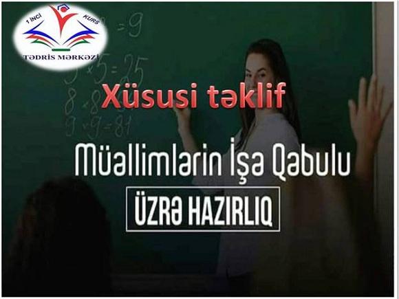 Müəllimlərin işə qəbulu üzrə hazırlığa Xüsusi endirimlər - 1