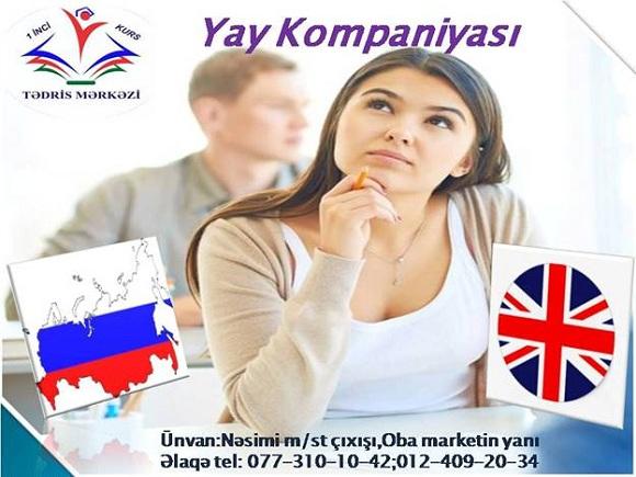 Rus dili və İngilis dilini bizimlə öyrənə bilərsiniz - 1