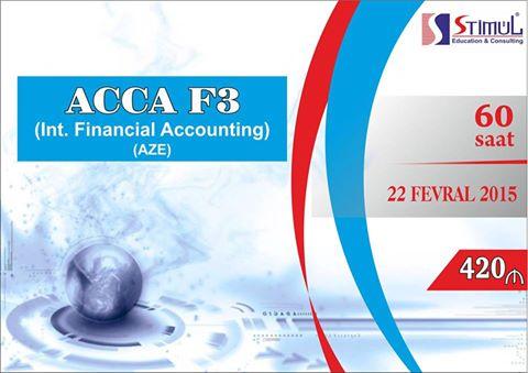 ACCA F3 - Beynəlxalq Mühasibat Uçotunun (STIMUL Education Consulting) - 1