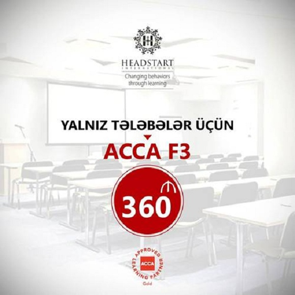 Yalnız tələbələrə ACCA F3 təlimi 360 AZN - 1