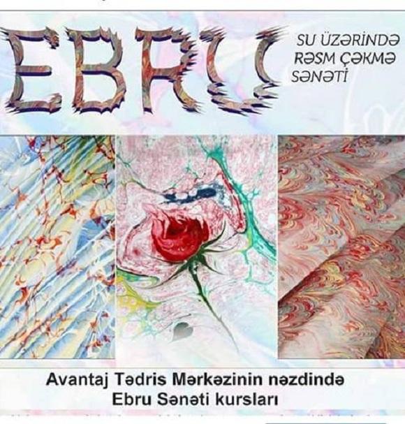 Ebru sənətinə bizdə yiyələnin - 1