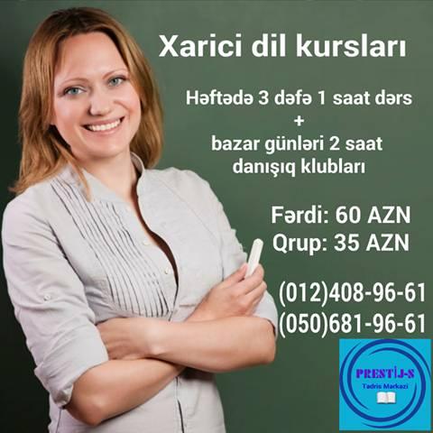 Sürətli xarici dil kursları (PRESTIJ-S TEDRIS MERKEZI) - 1