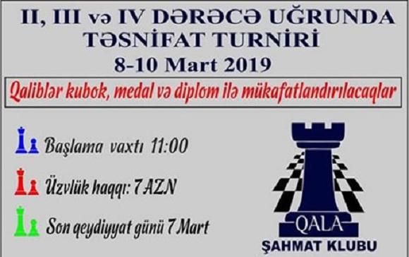 Şahmat üzrə turnirə tələsin - 1