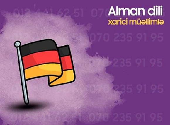 Alman dili xarici müəllimlə - 1
