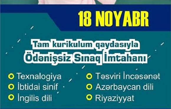 Müəllimlərin işə qəbulu proqramına uyğun sınaq imtahanı - 1