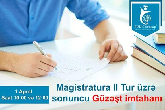 Magistratura II tur sonuncu güzəşt imtahanı - 1