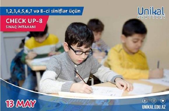 13 mayda Check up-8 sınaq imtahanı keçiriləcək - 1