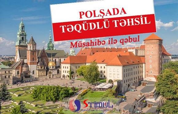 Polşada TƏQAÜDLÜ təhsil almağa yardım edə bilərik - 1