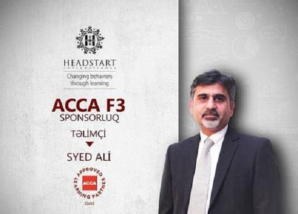 ACCA F3 təlimlərinə 40% endirim al