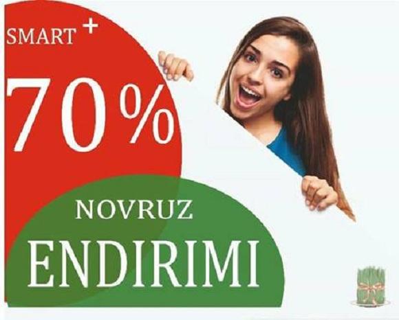Novruz bayramı münasibəti ilə 70% endirim - 1