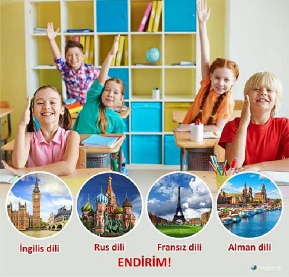 Məktəblilər üçün xarici dillərə endirimlər - 1