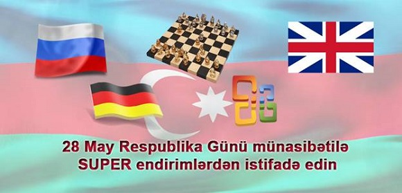 28 May Respublika Günü münasibətilə SUPER endirimlərdən istifadə edin