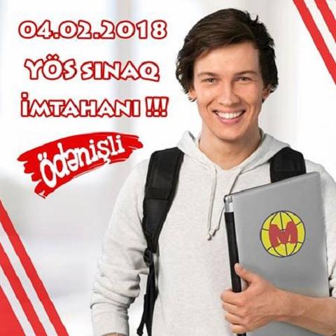 Metropol Eğitim Kurumlarında növbəti YÖS Sınaq imtahanı...