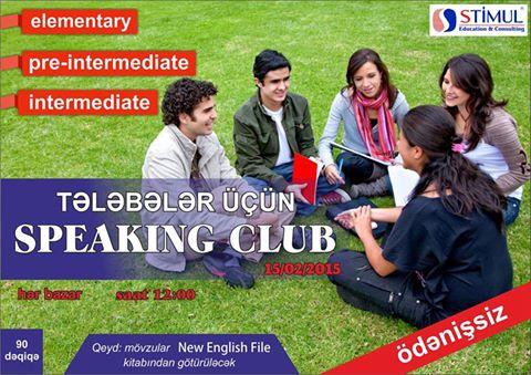 Tələbələr üçün SPEAKİNG CLUB (STIMUL Education Consulting) - 1