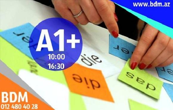 Yeni açılan A1+ kursu üçün qeydiyyat davam edir.