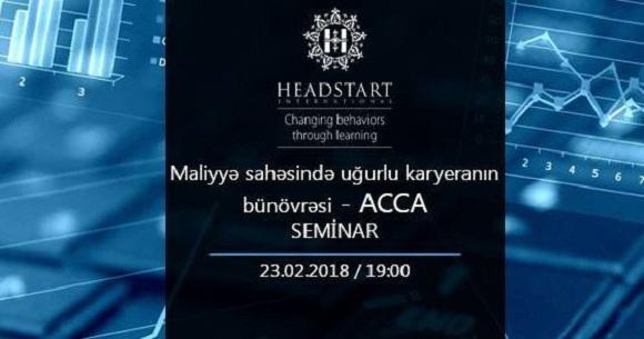 ACCA üzrə seminara gəlin