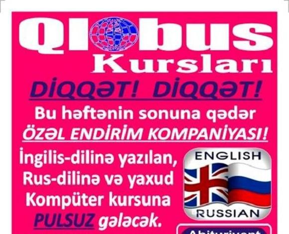 Qlobus Kursu sizə İngilis dilini mükəmməl səviyyədə öyrənməyi təklif edir