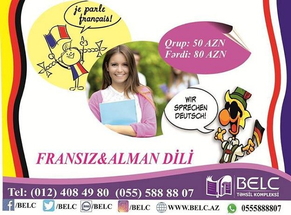 Fransız və Alman dillərinə endirim