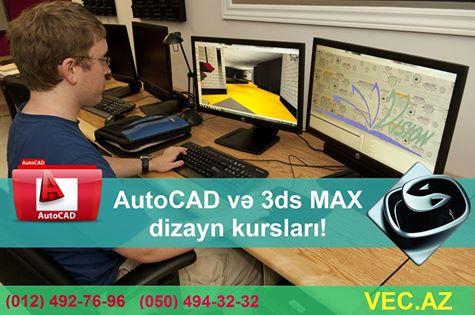 Dizayner olmaq istəyənlər üçün AUTOCAD və 3D MAX KURSLARI! - 1