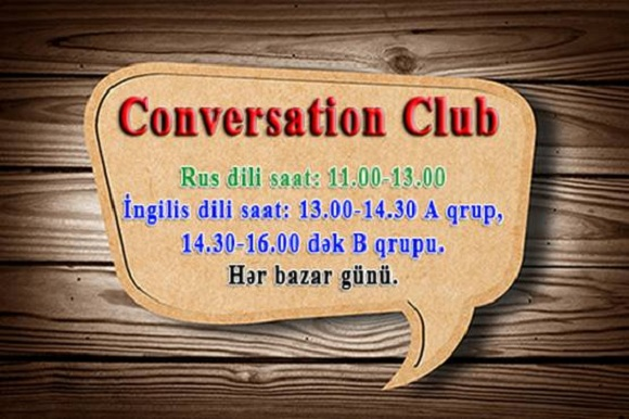 Rus dilindən Conversation Club - 1