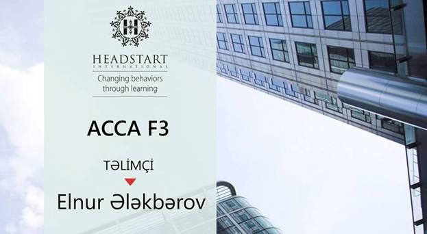 ACCA F3 üzrə hazırlıq - 1