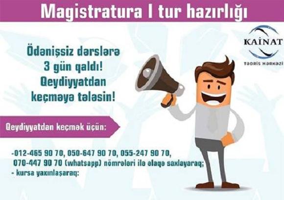 Magistratura I tur hazırlığı - 1