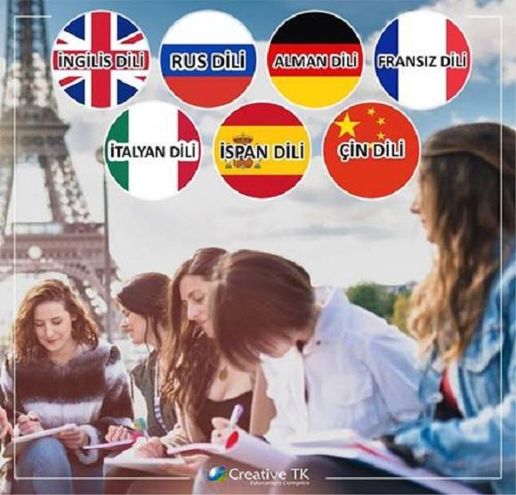 İngilis, Rus, Alman, Fransız, İspan, Çin, Koreya dili kurslarına qeydiyyat davam edir!!! - 1