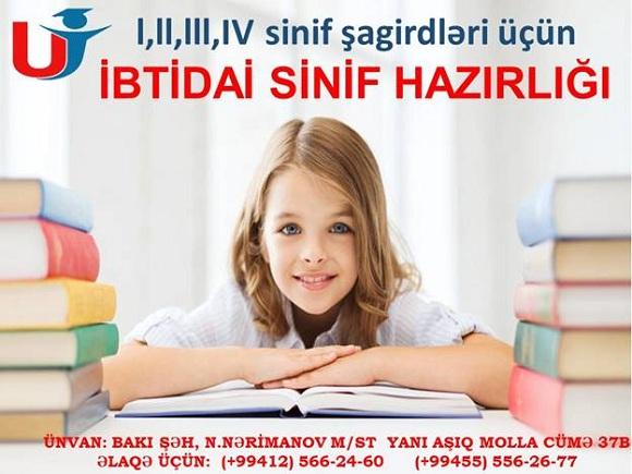 İbtidai sinif hazırlığını bizə həvalə edin - 1