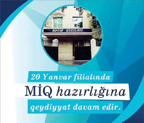 20 Yanvar filialı MİQ hazırlığı üzrə ödənişsiz nümunə dərslərə start verir. - 1