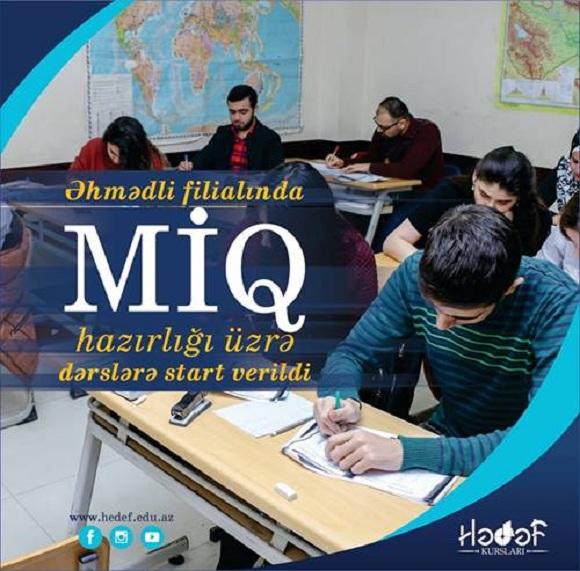 Əhmədli filialında MİQ hazırlığı üzrə dərslərə start verildi - 1