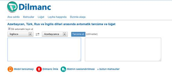 """Tərcümə proqramı """"Dilmanc Translator"""" yeniləndi - 1"""